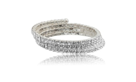 Swarovski Elements Crystal Wraparound Bracelet
