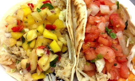 Gourmet Tacos and Soft Drinks for Two or Four at Monon Food Company (Up to 41% Off)