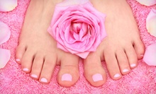 Deluxe Pedicure with Optional Deluxe Shellac Manicure at Candy Nailz (Up to 54% Off)