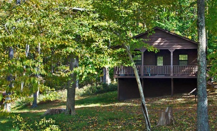 groupon daily deal - 1 or 2 Nights for Up to Six in a Two-Bedroom Cabin with an Activity Package at Wilstem Guest Ranch near French Lick, IN