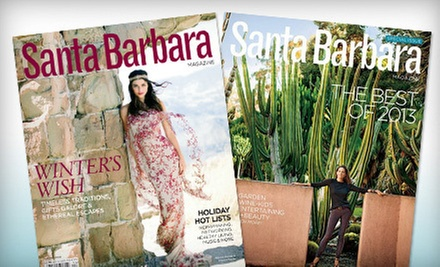 "One- or Two-Year Subscription to ""Santa Barbara Magazine"" (Half Off)"