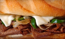 $17 for Four 10-Inch Cheesesteak Sandwiches at Cheese Steak Restaurant ($35.96 Value)