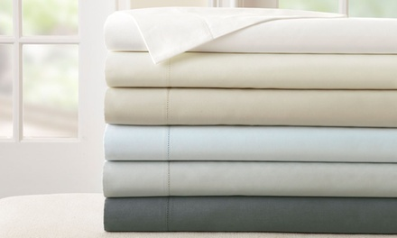400-Thread-Count 100% Egyptian Cotton Bed Sheet Set with Single-Hole Hem