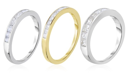 1/4, 1/2, or 1 CTTW Certified Princess-Cut Diamond Wedding Bands in 10K Gold from $269.99–$989.99
