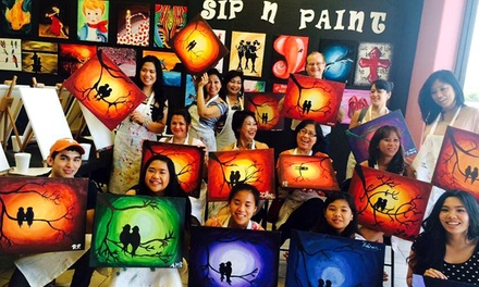 BYOB Painting Class for Two or Four at Valley Sip'n Paint (46% Off)
