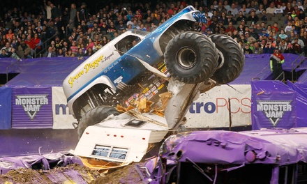 [One Ticket Plus One Pit Pass to Monster Jam at Gillette Stadium on Saturday, June 20, at 7 p.m. (Half Off)  Image]