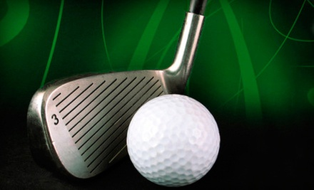 Golf-Simulator Play for Two or Four, One 30-Minute Golf Lesson, or One-Month Membership to Golf 365 (Up to 56% Off)