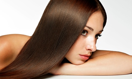 Brazilian Keratin Treatment with Optional Haircut at Hair Bar NYC (Up to 60% Off). Four Locations Available.