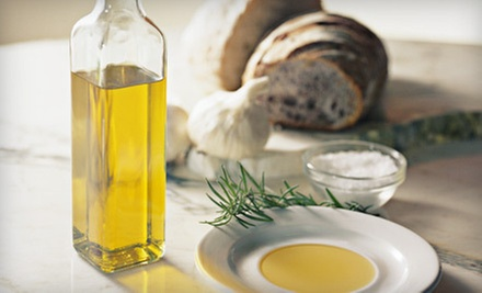 Gourmet Gift Basket or $10 for $20 Worth of Olive Oils and Balsamic Vinegars at Pure Mountain Olive Oil