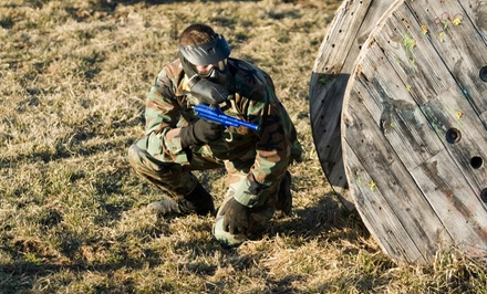 Paintball Package for 1, 2, 5, or 10 with Gear Rental & Paintballs at Warped Paintball Park (Up to 58% Off)
