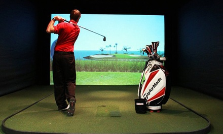 One Hour of Virtual Golf with a Golf Lesson or Range Balls at Sportz Skillz Golf & Tennis Center (Up to55% Off)