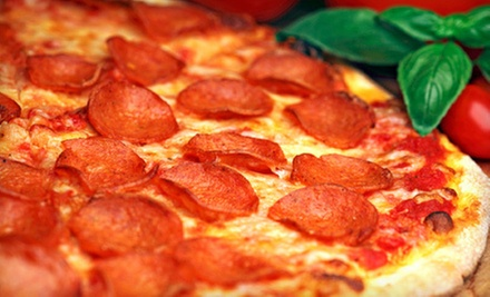 14- or 16-Inch Hand-Tossed Pizza with Garlic Knots and Drinks at Angelo's Picnic Pizza (Up to 52% Off)