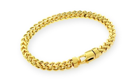 Solid 10K Gold Franco-Link Bracelet. Multiple Sizes Available from $229.99 to $729.99