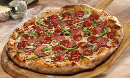 Calzone or Pizza Meal for Two, Two Large Pizzas, or Catered Pizza and Pasta at Johnny's Pizza (Up to 78% Off)