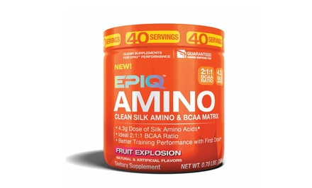 Epiq Amino Clean-Silk Amino and BCAA Matrix Training Supplement; 40-Serving Tub