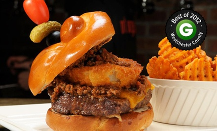 Burgers and American Food at Westchester Burger Co. (Half Off). Two Options Available.