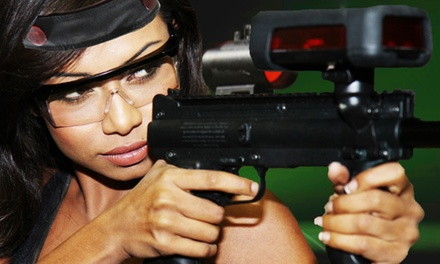 Two-Hour Laser-Tag Outing with a Slice of Pizza for One, Two, or Four (Up to 56% Off)