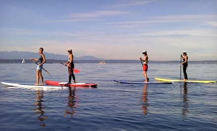 Two-Hour Standup-Paddleboard Lesson Tour for One or Two at Washington Surf Academy (Up to 51% Off)