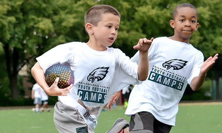 Philadelphia Eagles Non-Contact Instructional Youth Football Camps, Full or Half Day Option, Ages 6-14. 14 Locations.