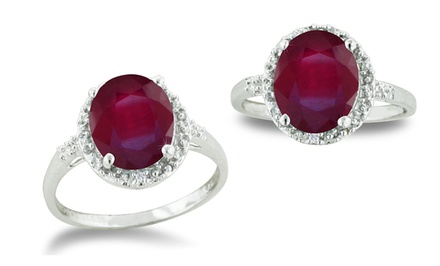 2.75 CTTW Ruby and Diamond Cocktail Ring