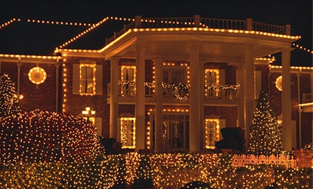 Roofline Holiday-Light Installation for a One-, Two-, or Three-Story Home from Paneless Window Cleaning (Half Off)