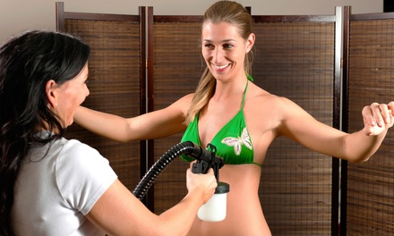 Full-Body Organic Spray-Tan, Regular Mani-Pedi, or Both at Salon La De Da (Up to 66% Off)