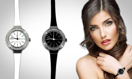 Relógio modelo Montre Gleeven com Swarovski Elements por 16,99€ ou dois por 29,99€