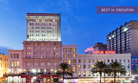 groupon daily deal - Stay at Astor Crowne Plaza New Orleans in the French Quarter. Dates Available into April.