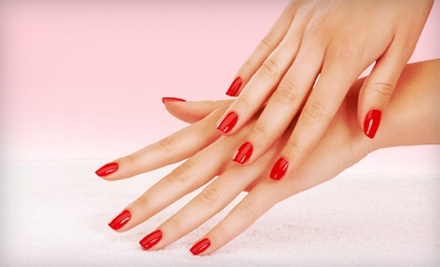 Regular Mani-Pedi or Shellac Manicure with Spa Pedicure at La Rouge Spalon & Boutique (Up to 54% Off)