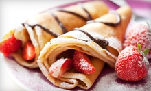 $10 for Four Groupons, Each Good for $5 Worth of Crepes, Smoothies, and Waffles at Fruitzzy ($20 Total Value)