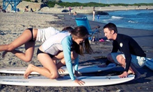 Surfing or Paddleboarding Lesson for Two or Three with Wetsuit and Surfboard Rentals from Rhody Surf (Up to 55% Off)