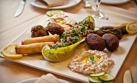 Mediterranean Cuisine at Arabian Nights Restaurant (Up to 52% Off). Two Options Available. 
