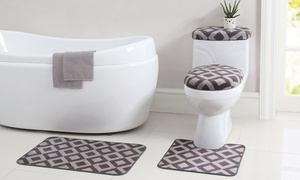 12-piece Bath Set With Rugs And Washcloths