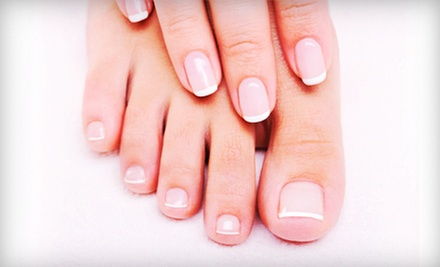 One or Two Mani-Pedis at Nails by Maddison located inside Visage Salon & Day Spa (Up to 60% Off)
