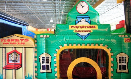 Bounce-House Outing for Two Kids and Two Adults or a Party for 20 at Monkey Zone in Melrose Park (Up to 55% Off)