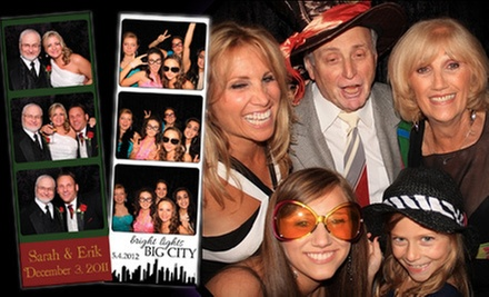 $525 for a Three-Hour Photo-Booth Rental with Attendant, Props, and Unlimited Prints from Photo Booth of the Stars ($1,248 Value)
