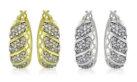 1.00 CTTW Diamond Hoop Earrings