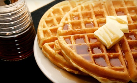 Two Waffles with Toppings and Two Drinks with Syrup or $10 for $20 Worth of Waffles at Waffle Gone Wild