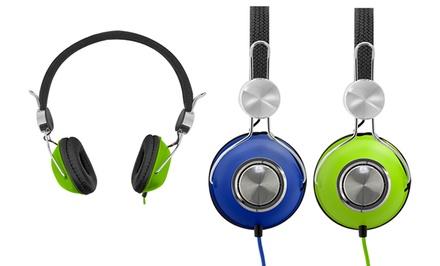 Bytech Metallic DJ-Style Headphones