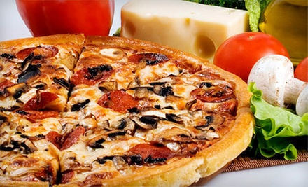 $15.99 for Two 16-Inch Two-Topping Pizzas at Casamel's Pizza (Up to a $32.40 Value)
