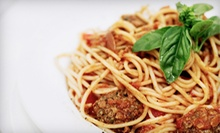 Two-Course Italian Dinner with Wine for Two or Four at Sweet Basil Restaurant (Up to 59% Off)