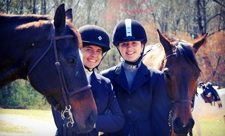 Two or Four Private or Group Horseback-Riding Lessons at Agape Farm (Up to 51% Off)