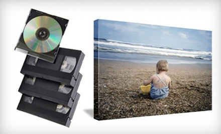 Film-to-DVD Conversion or Gallery-Wrap Canvas-Printed Photo at Creative Photo & Digital Imaging (Up to 74% Off)