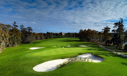 18 Holes of Golf with Cart and Range Balls for Two or Four at Hunter's Creek Golf Club (Up to 50% Off)