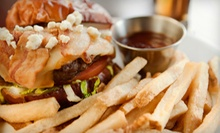 Pizzas, Burgers, and Drinks at iBurger Lounge (Half Off). Two Options Available.