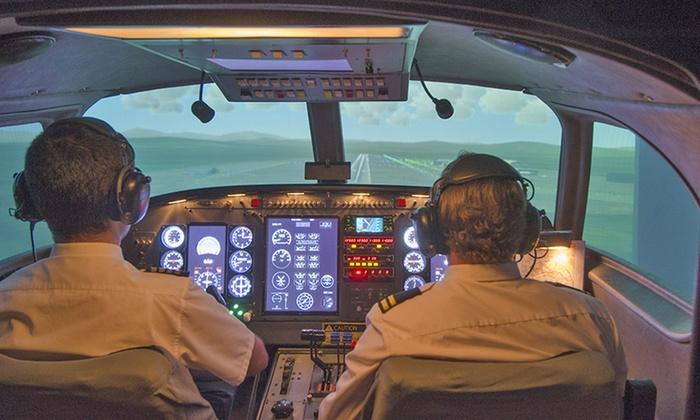 Eurocity Flight Schools - Eurocity Flight Schools: 60 oder 90 Min. Flugsimulator inkl. Einweisung bei Eurocity Flight Schools (bis zu 54% sparen*)