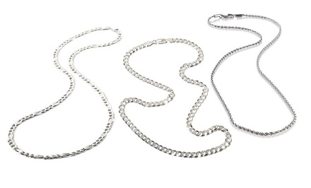 Men's Italian Sterling Silver Heavyweight Chain Necklace