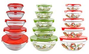 5-piece Glass Storage Bowl Set With Lids