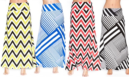 Women's Patterned Maxi Skirts
