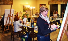 Two-Hour Introductory Acrylic- and Oil-Painting Class for One or Two at Café Elie (56% Off)